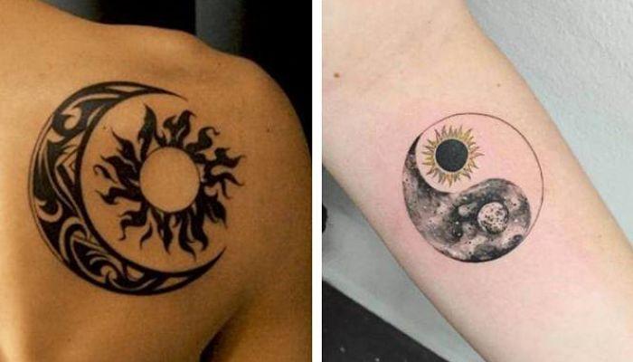 significado de los tatuajes del sol y la luna