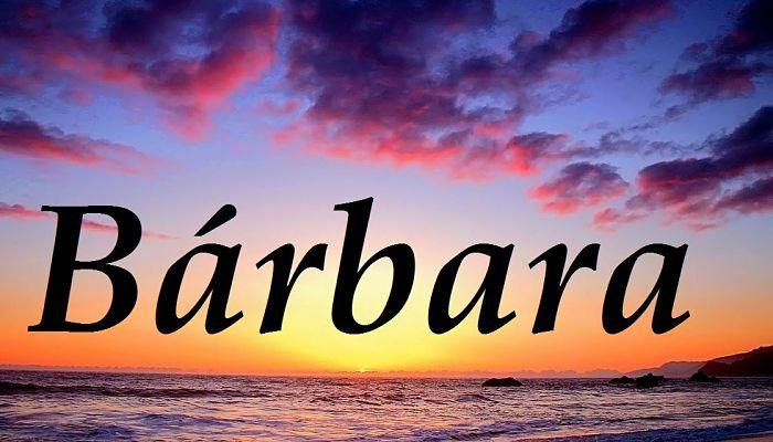 Significado De Bárbara 1